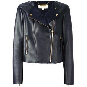 NWOT Michael Kors asymmetrical leather jacket